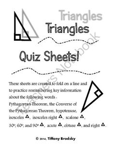 Geometry: Right Triangles & Trigonometry on Pinterest