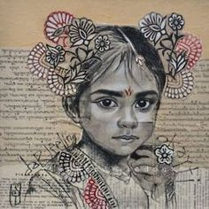 Mixed Media Portraits by Stéphanie Ledoux