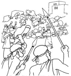 Joshua Crossing Jordan River Coloring Page Coloring Pages