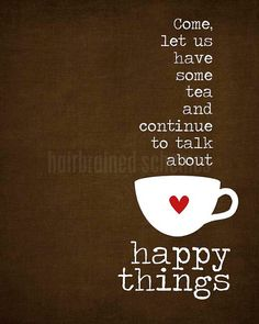 Tea and Happy Things  dark chocolate by hairbrainedschemes on Etsy, $15.00