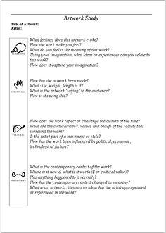Art Classroom Handouts;Assessments;Rubrics;&Standards On