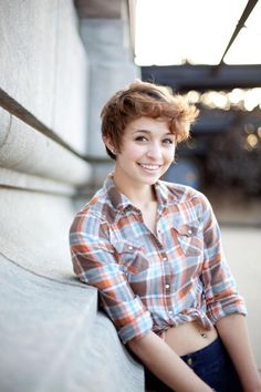 brown wavy pixie something my daughter sarene would like