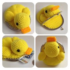 Crochet duck purse