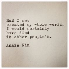 Anais Nin Quote Made on Typewriter and Framed by farmnflea on Etsy, $12.00