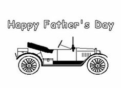 Father's Day Coloring Pages, Cards to Color, and Craft