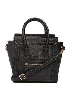 DAILYLOOK Mini Structured Handbag in Black   DAILYLOOK
