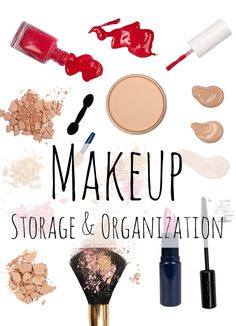 Organizational Ideas Makeup Storage Containers