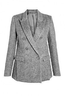 compact textured wool double breasted jacket by Neil Barrett