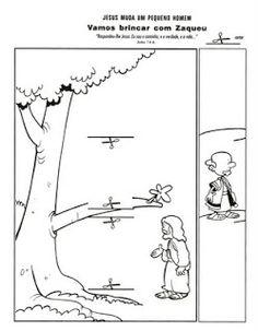 Zacchaeus Cut Out Coloring Coloring Pages