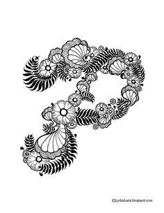 Mehndi Tattoo Of Letter P