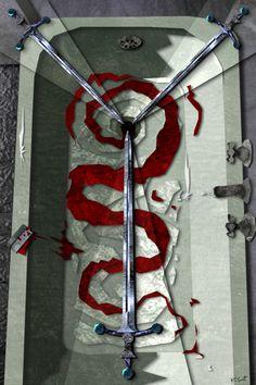 Urban Tarot - 3 van zwaarden