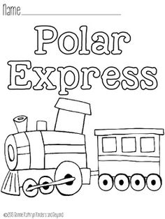 Polar Express Bell Page Coloring Pages
