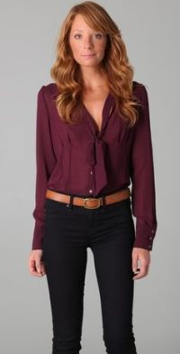 Bow Blouse on Pinterest | Blouses, H&m and Ties