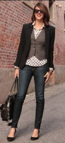 love this- casual Friday work outfit