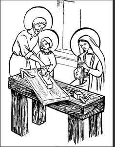 Free Printable PDF Diorama Craft of the Holy Family at