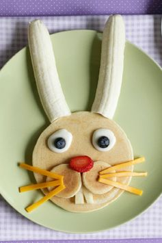 Easy Easter Bunny Pancake How-To!