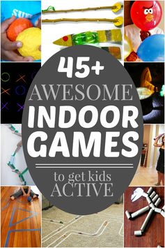 45 Games kids can play indoors - staying active on a rainy or cold day!