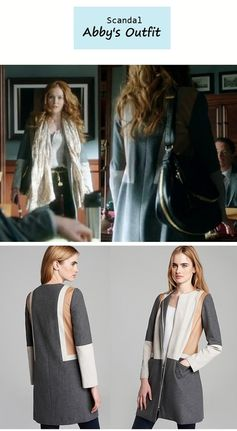 """On the blog: Abby's (Darby Stanchfield) colorblock coat 