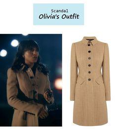 "On the blog: Olivia Pope's (Kerry Washington) camel wool coat & vintage handbag | ""Guess Who's Coming to Dinner"" (Ep. 302) #tvfashion #tvstyle #gladiators #falltv #fashion #outfits #fallfashion"