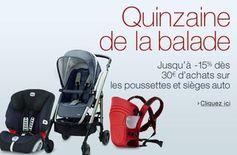 Sièges auto, poussettes et porte-bébés moins 15% des 30 euros d'achats / dernieres heures - http://www.bons-plans-malins.com/sieges-auto-poussettes-et-porte-bebes-moins-15-des-30-euros-dachats/ #Maison/Deco