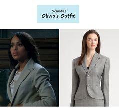 "On the blog: Olivia Pope's (Kerry Washington) gray plaid blazer | ""It's Handled"" (Ep. 301) #tvfashion #tvstyle #gladiators #falltv #fashion #outfits"