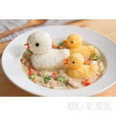 Duck cream stew bento