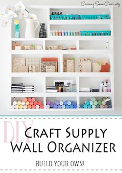 Craft Supply Storage and Organization | Craving Some Creativity- Featured at the #HomeMattersParty54