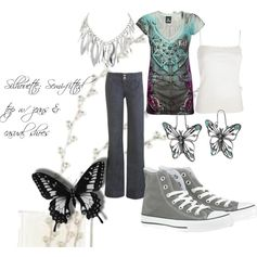 """""""butterflies are free..."""" by sunnyb64 on Polyvore"""