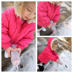 Outdoor snow painting - what fun!