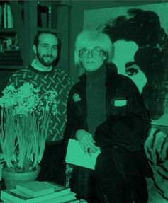 Richard Polsky with Andy Warhol in 1986. COURTESY RICHARD POLSKY
