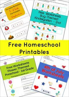 Dozens of Free Homeschool Printables | The Happy Housewife