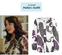 """On the blog: Mellie Grant's (Bellamy Young) floral blouse 