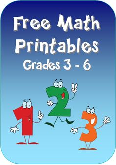 Free Math Printables from Laura Candler's online file cabinet - loads of resources and engaging activities for grades 3 through 6