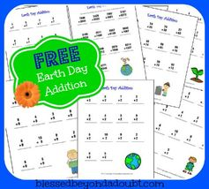 FREE Earth Day Addition Worksheets Packet!