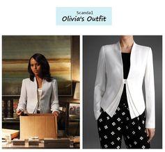 Scandal Season Finale 222: Olivia Pope's (Kerry Washington) Armani Blazer #tvfashion #outfits #fashion #style