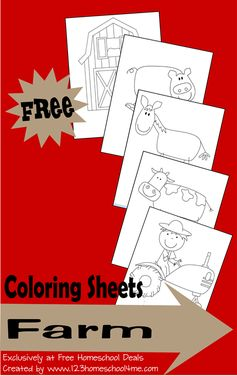 Free Farm Coloring Sheets
