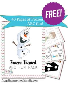 Free Frozen-Themed ABC Printables Pack (40+ Pages!) - limited time from @Educents Educational Products Educational Products