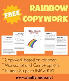 {free} Rainbow Copywork - In All You Do
