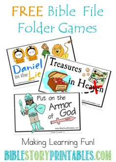 Free Bible File Folder Games