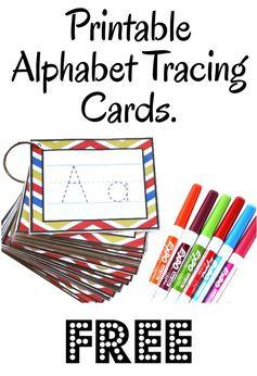 Handwriting intervention? Alphabet Tracing Cards -Free Printable-