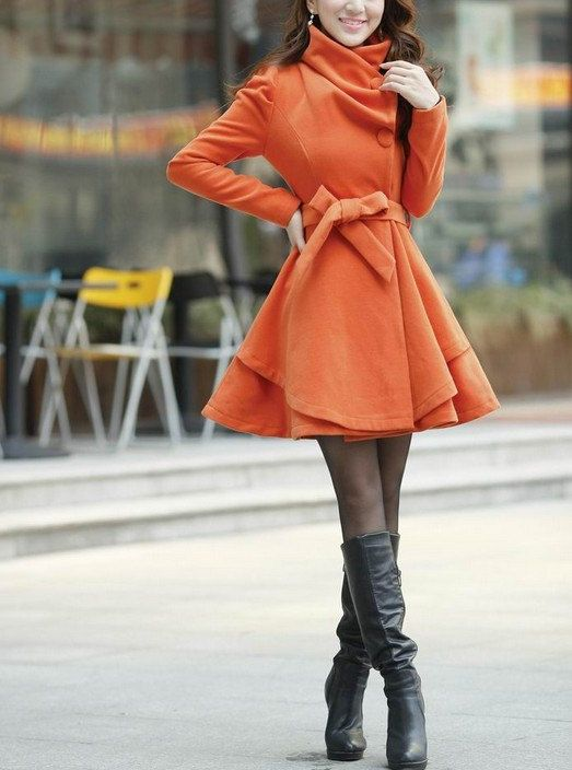 Orange Long Coat