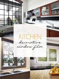 Kitchen Stuffs: Kitchen Decorative Window Film