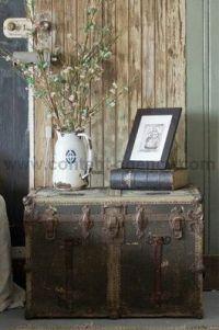 Old trunk   Decorating Ideas   Pinterest
