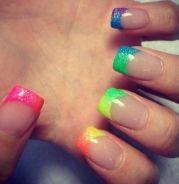 ombr rainbow nails beautiful
