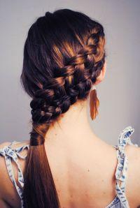 double french braid | Hair | Pinterest