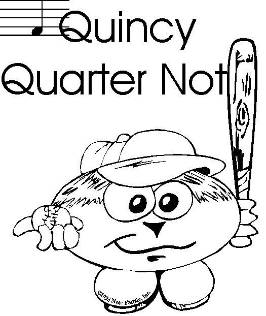 Quarter Rest Coloring Page Coloring Pages