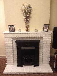 White Painted Brick Fireplace   www.imgkid.com - The Image ...