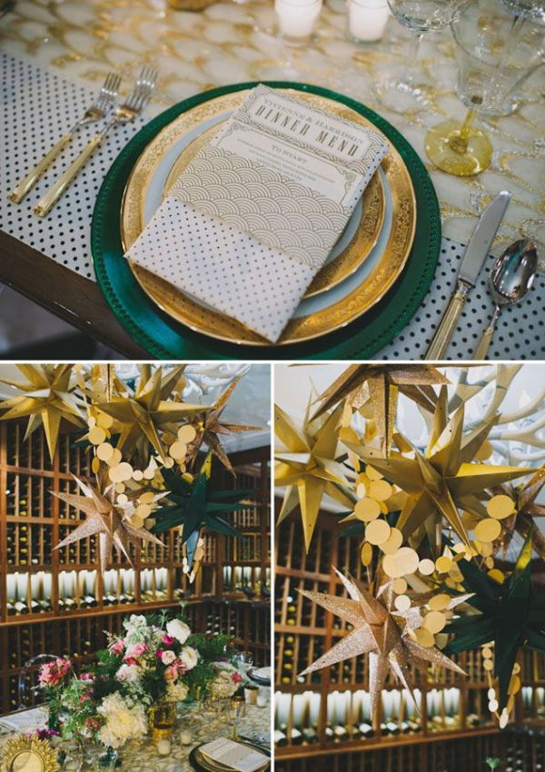Gold Wedding Decor - PHOTO SOURCE • HEIDI RYDER PHOTOGRAPHY
