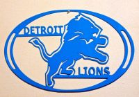Detroit Lions Wall Art - Metal Art - Home Decor - Football ...
