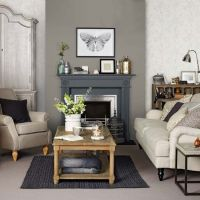 Grey and taupe living room | Living Spaces | Pinterest